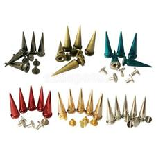10pcs Cone Spikes Bullet Studs Rivets Spots for Leathercraft Belt Bag Decoration