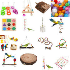 Pet Birds Play Center Toy Chewing Foraging Ball Swing Toys Activity Toy Perch