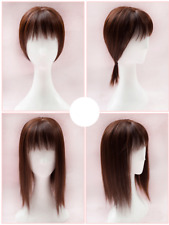 Long hair wig Synthetic Hair Topper top Hairpiece with hair bang women wig