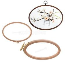 Wooden Embroidery Tool Cross Stitch Tapestry Oval Ring Hoop Wood Frame Patchwork