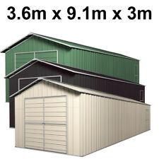 Double Barn Door Garage Shed 3.6m x 9.1m x 3m (Gable) Workshop with 6 Frames EXT