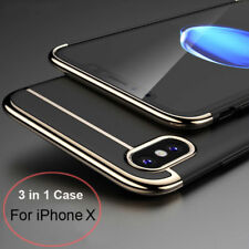 For i Phone X/10 Case 3 in 1 l Shockproof Plating Hybrid Ultra Thin  PC Cover