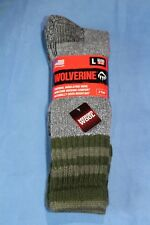 2 PAIR MEN'S WOLVERINE MERINO WOOL BLEND OVER THE CALF SOCKS - SIZE LARGE