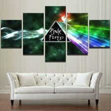 5 Panel Pink Floyd Rock Music Painting Wall Art For Living Room Decor