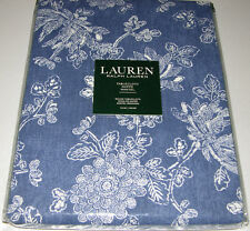 """Ralph Lauren CHRYSANTHEMUM Blue & White Floral 70"""" Round Tablecloth or Runners"""
