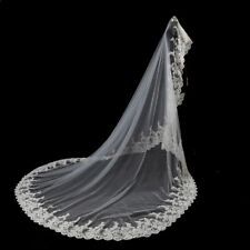 Cathedral White/Ivory Wedding Veils 3M Lace Edge Bridal Veil Accessories 062-1