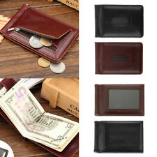 New Men's PU Leather Bifold ID Credit Card Money Holder Wallet Coin Bag Slim