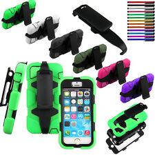 For iPhone 5G 5S Holster Clip Case Cover Built in Screen Protector Shockproof US