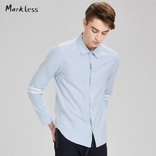 Markless New Arrival Spring Men Shirts Long Strip Sleeve American Style Casual M