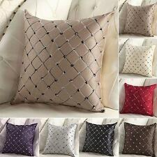 Multicolored Plaids Throw Pillow Case Square Cushion Cover Sofa Bed Decor ▪E