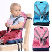 Portable Baby Toddler Dining Feeding Chair Foldable Booster Seat Safety Strap SM