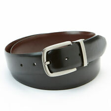 New APT·9 Men's Feather-Edge Black & Brown Reversible Synthetic Leather Belt $28