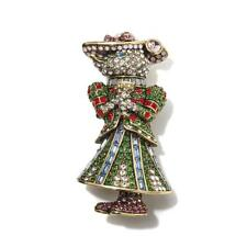 Authentic Heidi Daus Lady Mouse Crystal Pin SWAROVSKI GREAT CHRISTMAS GIFT