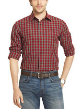 G.H. BASS & CO. River Rock Textures Plaid Button-Down Shirt Rhubarb Red $60