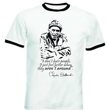 CHARLES BUKOWSKI DONT HATE - NEW BLACK RINGER COTTON TSHIRT