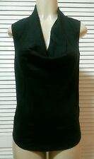 NEW! THEORY Black Sleeveless Cowl Neck Blouse Top Size P $200.00