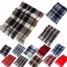 Women Men Winter Warm Scarf Cashmere Long Wrap Shawl Plaid Knit Scarf PashminaWH