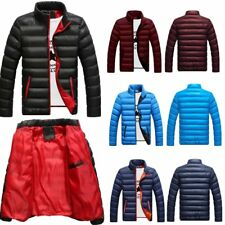 Mens Winter Warm Cotton Padded Down Coat Thick Casual Outerwear Parka Jacket LWH