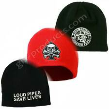 New US Beanie Knit Hats printed embroidered Designs warm acrylic skulls gamblers