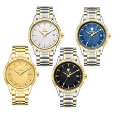 TEVISE Men Crystal Analog Watch Automatic Mechanical Date Chronograph Wristwatch
