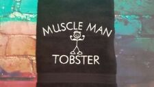 BATH TOWEL SET personalised embroidered GYM WEIGHT LIFTER MUSCLES free name