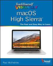 Teach Yourself VISUALLY macOS High Sierra by Paul McFedries Paperback Book Free