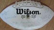 1981 Dolphins team signed auto NFL football Bob Griese Don Shula Strock Woodley