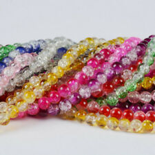100pcs/string Crystal Crackle Glass Beads DIY Craft Jewelry Making Accessories