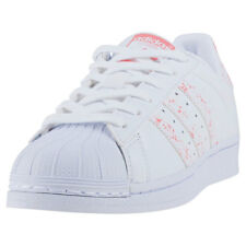 adidas Superstar Womens Trainers White Pink New Shoes
