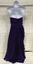 Purple Women's Sweetheart Strapless Sequins Party Prom Evening Dress, size 8
