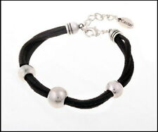 New Suede Bracelet with Alloy Beads in Black or Grey or Beige