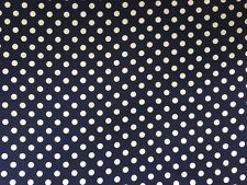 Waverly Navy blue with white dots Cotton Fabric