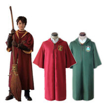 Harry Potter Quidditch Cosplay Costume Gryffindor Slytherin Cloak Magic Robe New
