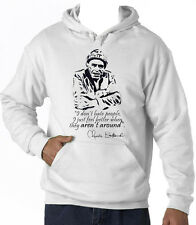 CHARLES BUKOWSKI DONT HATE - NEW COTTON WHITE HOODIE