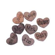 50pcs Rustic Wooden Love Heart Wedding Table Scatter Decoration Wood Crafts*~*