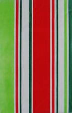 ASSORTED SIZES RED and GREEN Striped Christmas Vinyl Tablecloth