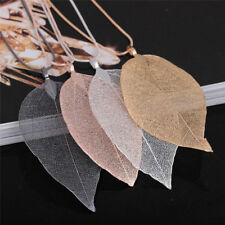 Unique Women Fashion Jewelry Simple Leaf Sweater Pendant Long Chain Necklace*~*