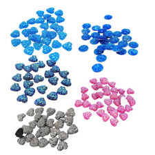 50pcs Shining Heart, Resin Flatback Cabochon for Embellishment, Hair Bow Center