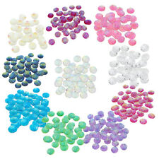 50pcs Striped Resin Flatback Buttons Cabochon Jewelry Making Accessories 12mm