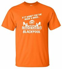 BLACKPOOL FANS THEMED BOOZE AND BIRDS T-SHIRT