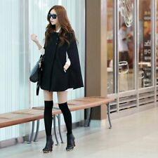 Winter Women Warm Batwing Cloak Cape Coat Loose Poncho Jacket Outerwear Tops SM