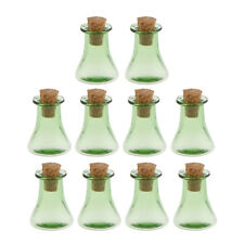 10Pcs Triangle Clear Cork Wishing Bottle Drift Bottle DIY Necklace Pendant