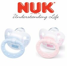 Nuk Baby Orthodontic Rose And Blue Silicone Latex BPA Free Pacifier Soother
