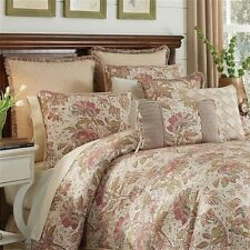 Croscill: Camille 6 pc Queen Comforter Set; Red, Gold, Green, Ivory