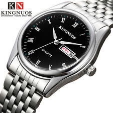 Casual Mens Womens Wristwatch Roman Numerals Date Stainless Steel Quartz Watches