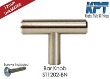 "KPT 2"" SOLID STAINLESS STEEL T-BAR Kitchen Cabinet Hardware Pulls"