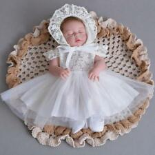 Embroidery Newborn Lace Baptism Dress Elegant Baby Girl Christening Dress Gown