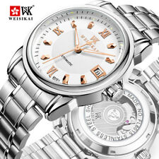 Luxury Brand Mens Watch Automatic Mechanical Business Date Steel Male Wristwatch