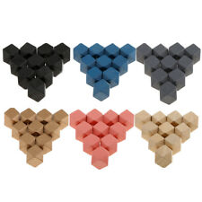 10pcs 20mm Wooden Cubes Unfinished Wood Blocks for Wood Crafts Home Décor