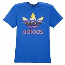 "Adidas Originals ""Hawaii Trefoil"" T-Shirt Bluebird Men's Small Large XL BNWT!"